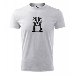 Obrázek Pánské Tričko Classic New - Tučňák a jeho kamarádi - #21 jezevec lesní, vel. S , šedý melír