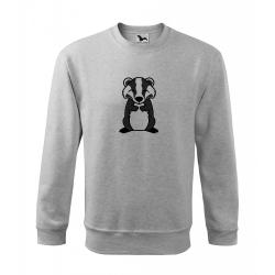 Obrázek Mikina Essential - Tučňák a jeho kamarádi - #21 jezevec lesní, vel. 12 let , šedý melír
