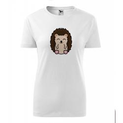 Obrázek Dámské Tričko Classic New - Tučňák a jeho kamarádi - #26 ježek západní, vel. S , bílá
