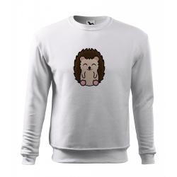 Obrázek Mikina Essential - Tučňák a jeho kamarádi - #26 ježek západní, vel. 12 let - bílá