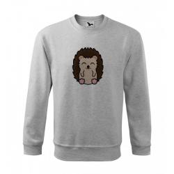 Obrázek Mikina Essential - Tučňák a jeho kamarádi - #26 ježek západní, vel. 12 let , šedý melír