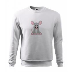 Obrázek Mikina Essential - Veselá zvířátka - Myška, vel. 12 let - bílá