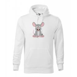 Obrázek Pánská Mikina Cape - Veselá zvířátka - Myška, vel. M , bílá