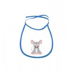 Obrázek Dětský bryndák Veselá zvířátka - Myška - modrý