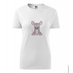 Obrázek Pánské Tričko Classic New - Veselá zvířátka - Myška, vel. S - šedý melír