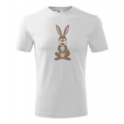 Obrázek Pánské Tričko Classic New - Veselá zvířátka - Zajíček, vel. S , bílá