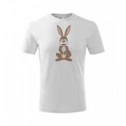 Obrázek Dětské Tričko Classic New - Veselá zvířátka - Zajíček, vel. 6 let , bílá
