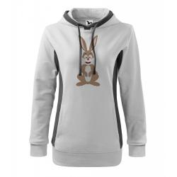 Obrázek Mikina Kangaroo - Veselá zvířátka - Zajíček, vel. M , bílá