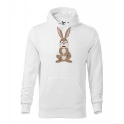 Obrázek Pánská Mikina Cape - Veselá zvířátka - Zajíček, vel. M , bílá