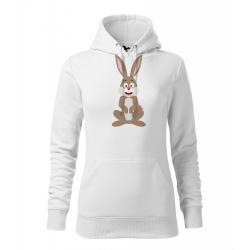 Obrázek Dámská Mikina Cape - Veselá zvířátka - Zajíček, vel. M , bílá