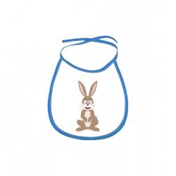 Obrázek Dětský bryndák Veselá zvířátka - Zajíček - modrý