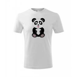 Obrázek Dětské Tričko Classic New - Veselá zvířátka - Panda, vel. 6 let , bílá