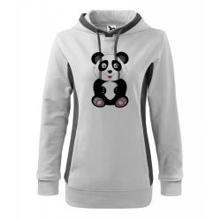 Obrázek Mikina Kangaroo - Veselá zvířátka - Panda, vel. M , bílá