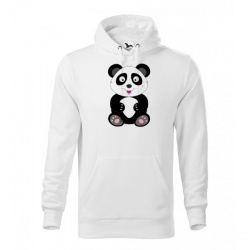 Obrázek Pánská Mikina Cape - Veselá zvířátka - Panda, vel. M - bílá