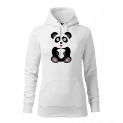 Obrázek Dámská Mikina Cape - Veselá zvířátka - Panda, vel. M , bílá