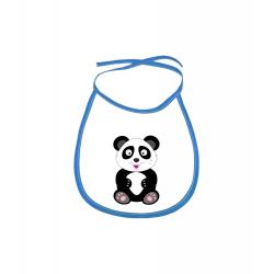Obrázek Dětský bryndák Veselá zvířátka - Panda - modrý