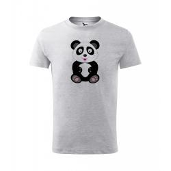 Obrázek Dětské Tričko Classic New - Veselá zvířátka - Panda, vel. 6 let , šedý melír