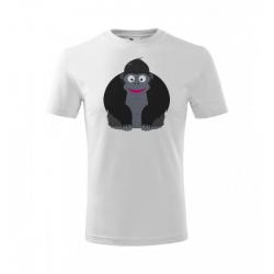 Obrázek Dětské Tričko Classic New - Veselá zvířátka - Gorila, vel. 6 let , bílá