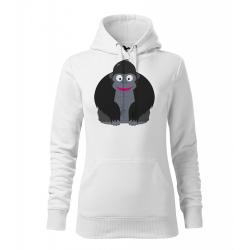 Obrázek Dámská Mikina Cape - Veselá zvířátka - Gorila, vel. M , bílá
