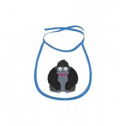 Obrázek Dětský bryndák Veselá zvířátka - Gorila - modrý