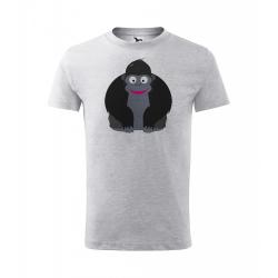Obrázek Dětské Tričko Classic New - Veselá zvířátka - Gorila, vel. 6 let - šedý melír