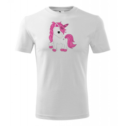 Obrázek Pánské Tričko Classic New - Fantasy - Unicorn, vel. S , bílá