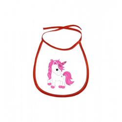 Obrázek Dětský bryndák Fantasy - Unicorn - červený