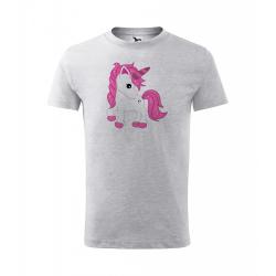 Obrázek Dětské Tričko Classic New - Fantasy - Unicorn, vel. 6 let - šedý melír