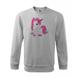 Obrázek Mikina Essential - Fantasy - Unicorn, vel. 12 let , šedý melír