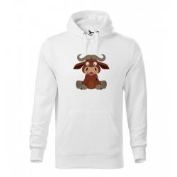 Obrázek Pánská Mikina Cape - Veselá zvířátka - Buvol, vel. M , bílá