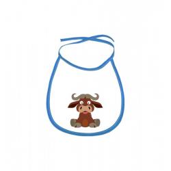 Obrázek Dětský bryndák Veselá zvířátka - Buvol - modrý