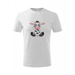 Obrázek Dětské Tričko Classic New - Veselá zvířátka - Kráva, vel. 6 let , bílá
