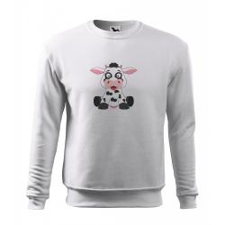 Obrázek Mikina Veselá zvířátka - Kráva, vel. 12 let , bílá