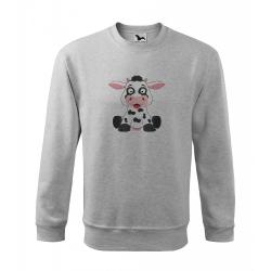 Obrázek Mikina Veselá zvířátka - Kráva, vel. 12 let , šedý melír