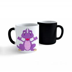 Obrázek Měnící Hrnek Veselá zvířátka - Dinosaurus