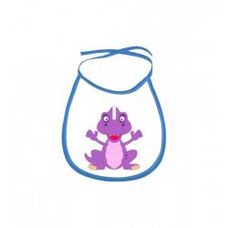Obrázek Dětský bryndák Veselá zvířátka - Dinosaurus - modrý