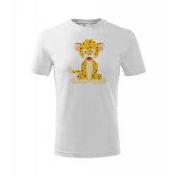 Obrázek Dětské Tričko Classic New - Veselá zvířátka - Leopard, vel. 6 let , bílá