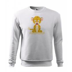 Obrázek Mikina Veselá zvířátka - Leopard, vel. 12 let , bílá
