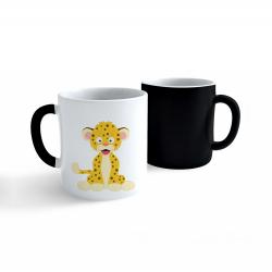 Obrázek Měnící hrnek Veselá zvířátka - Leopard