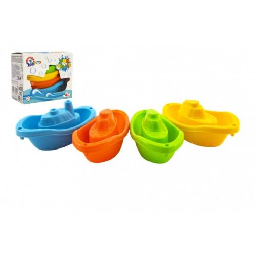 Lodě/lodičky do vody 4ks plast 11cm v krabičce 12x9,5x6cm 12m+ - Cena : 53,- Kč s dph