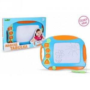 Magnetická kreslící tabulka barevná s razítky plast 40x30cm v krabici 41x32x4,5cm - Cena : 431,- Kč s dph