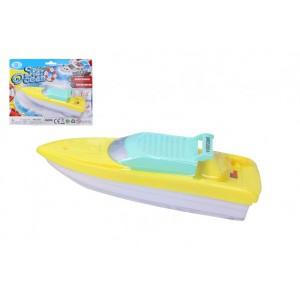 Loď/člun do vody plast 18cm na baterie na kartě - Cena : 69,- Kč s dph