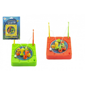Hra ryby/rybář magnetická plast 10x10cm na natažení 3 barvy na kartě 15x20x3cm - Cena : 62,- Kč s dph