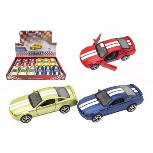 Auto Kinsmart 2006 Ford Mustang GT 1:38 12,5cm kov/plast 4 barvy na zpětné natažení 12ks v boxu - Cena : 161,- Kč s dph