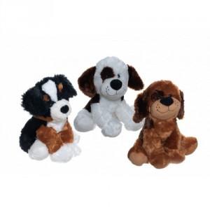 Pes/Pejsek sedící 40cm plyš 3 druhy v sáčku 0+ - Cena : 475,- Kč s dph