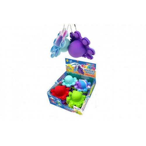 Přívěšek Bubble pops-Praskající bubliny chobotnice silikon antistr. spol. hra 4 barvy 24ks box - Cena : 89,- Kč s dph