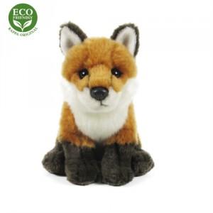 Plyšová liška sedící 18 cm ECO-FRIENDLY - Cena : 199,- Kč s dph