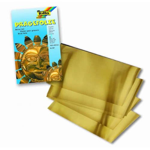 Hliníková folie zlatá 3 ks, 18,5x29 cm, 70 u - Cena : 100,- Kč s dph