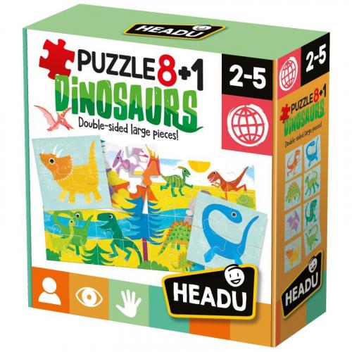 HEADU: Puzzle 8+1 Dinosauři - Cena : 223,- Kč s dph