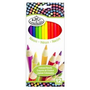 Neonové pastelky, 12 ks - Cena : 133,- Kč s dph